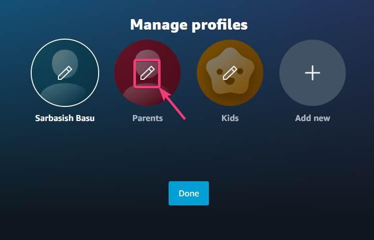 delete or modify profile
