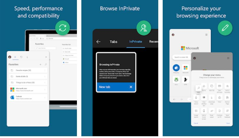Microsoft Edge Android browser