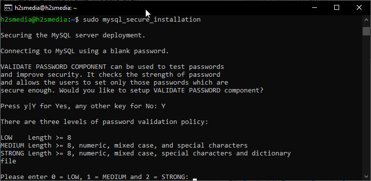 Password Validation component installation
