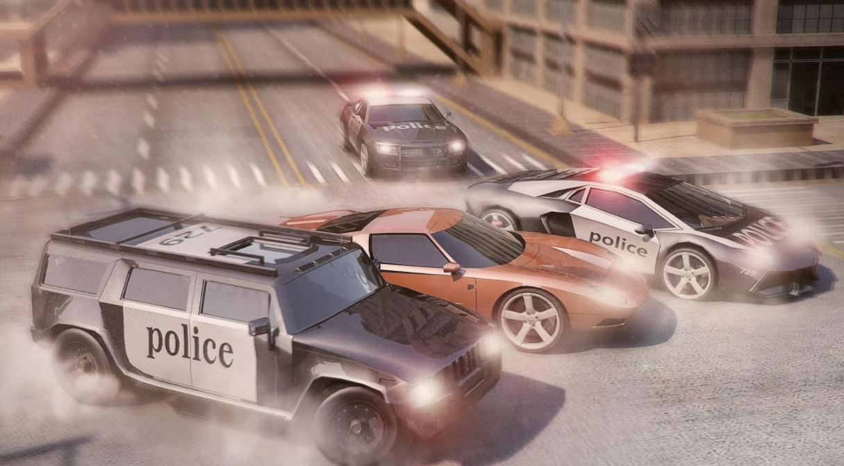 Police Car Chase Thief Pursuit game 2019