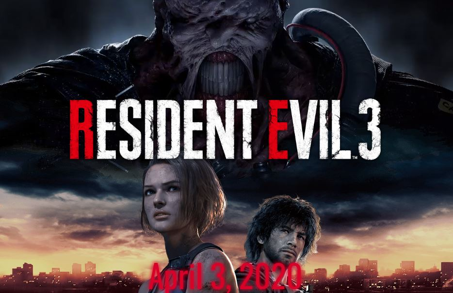 Resident Evil 3 will be released on April 3, 2020 for the PC, PS4 & Xbox One