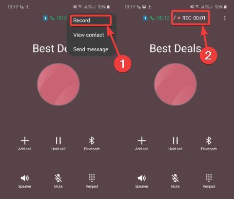Samsung automatic call recording