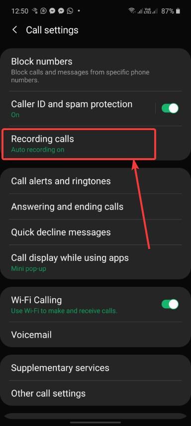 Recording calls