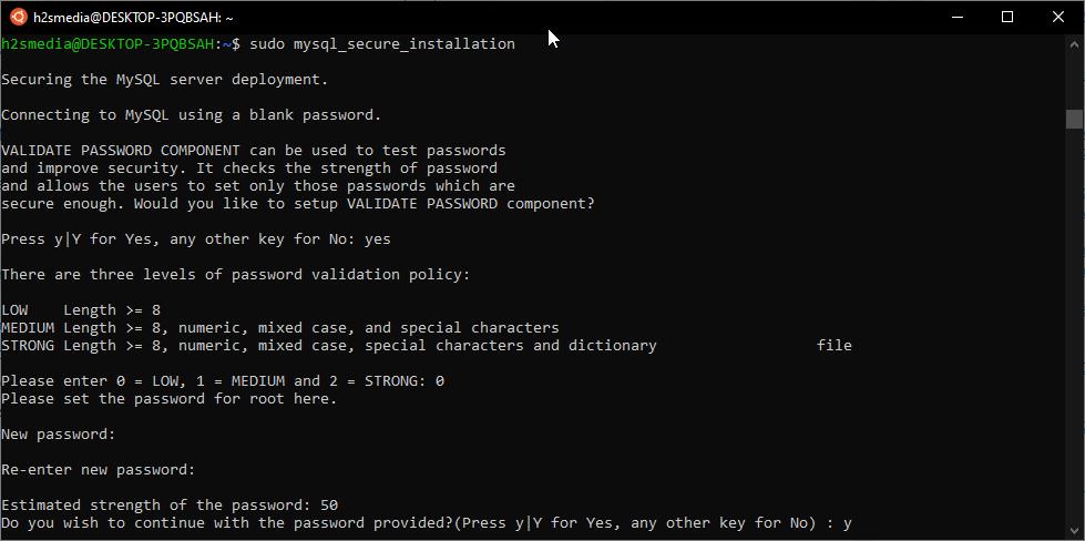 Secure MySQL Installation