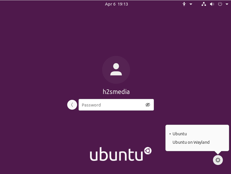 Ubuntu 20.04 New Login screen