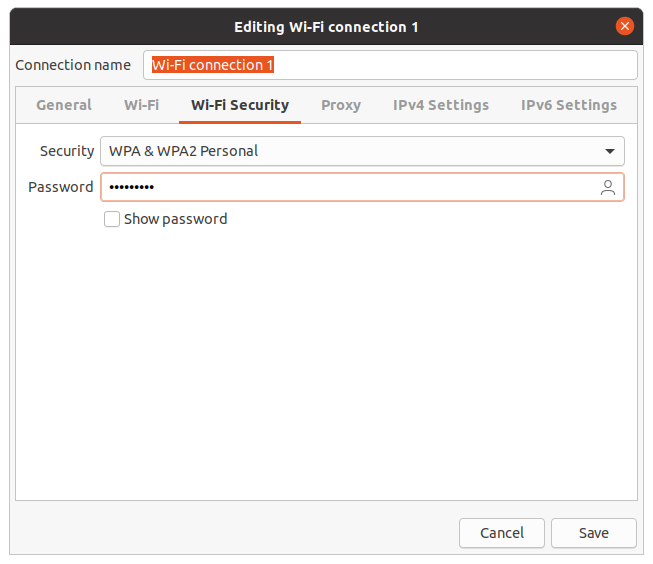 Wifi security Ubuntu 20.04