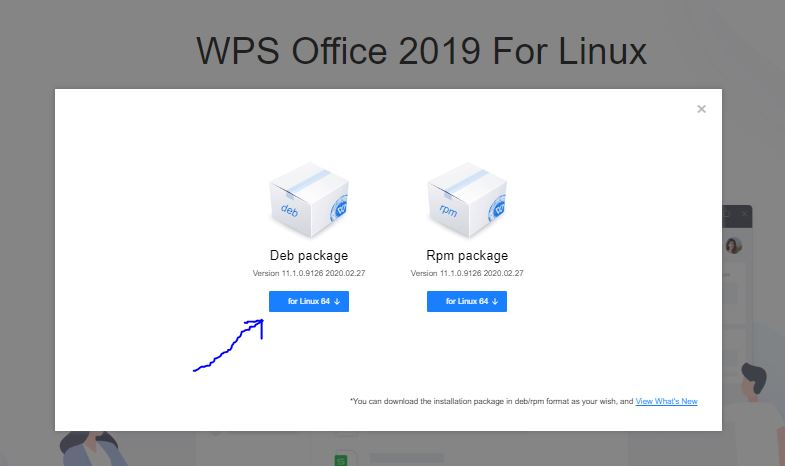 Wps Office Debian package download for Ubuntu 20.04 LTS