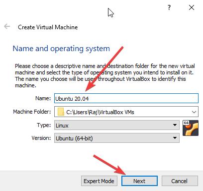 create a Ubuntu 20.04 virtual machine