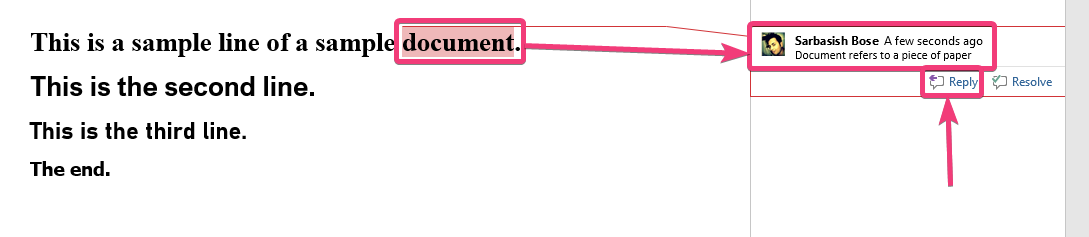 Add comments to Microsoft Word 30