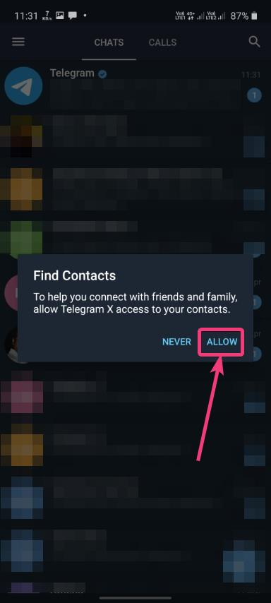 Access your contacts