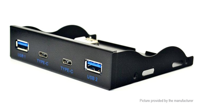 Adding front USB Type-C ports