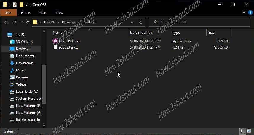 CentOS 8 folder