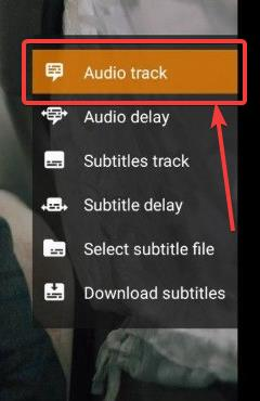 Select Audio track