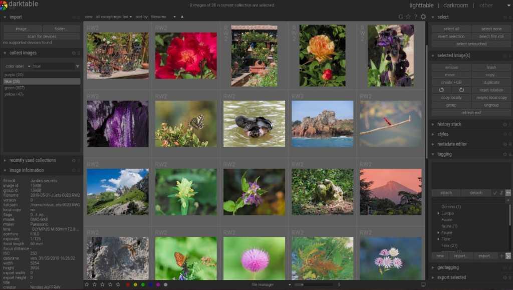 Darketable Opensource photo editing software