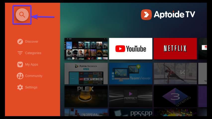 open Aptoide TV on Fire TV Stick