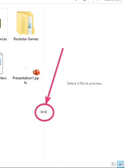 Toggle the preview pane on or off