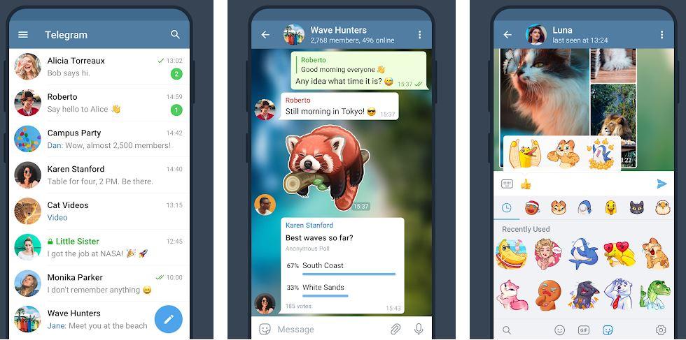 Telegram social chatting app-min