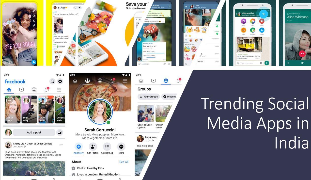 Top social media apps in India