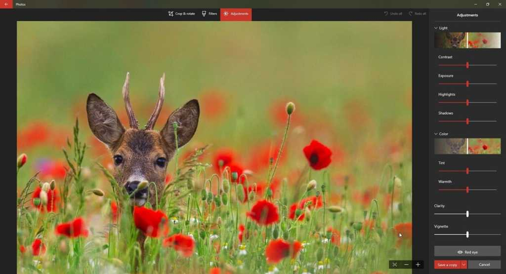 Windows 10 Default photo editor-min