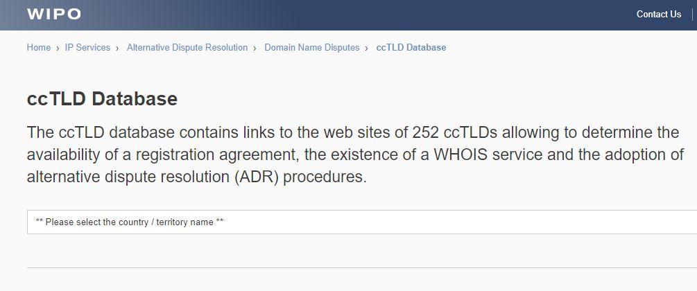 ccTLD Database