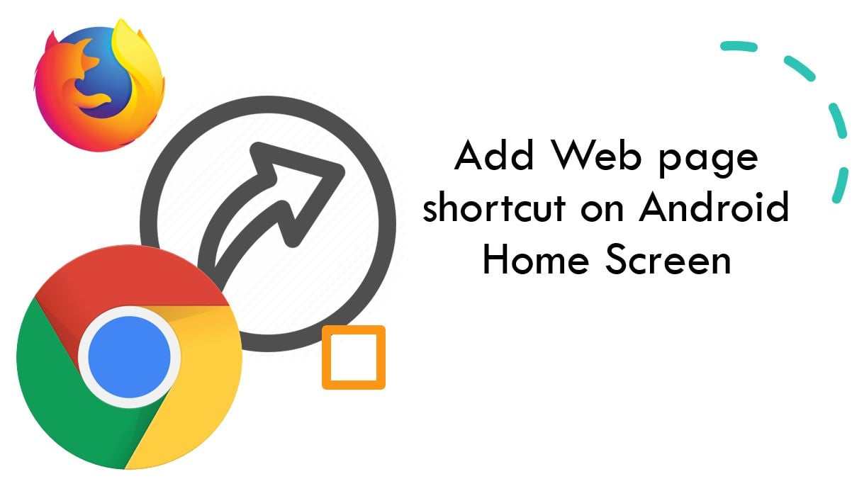 create websites shortcut on Android home screen min