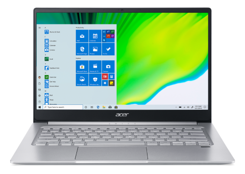Acer Swift 3 SF314 42 front design and keyboard