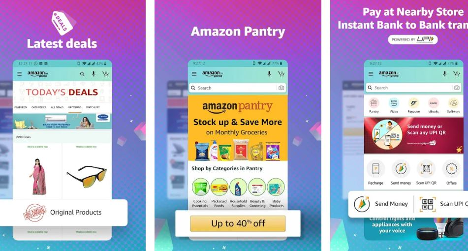 Amazon Shopping UPI Money Transfer Bill Payment min