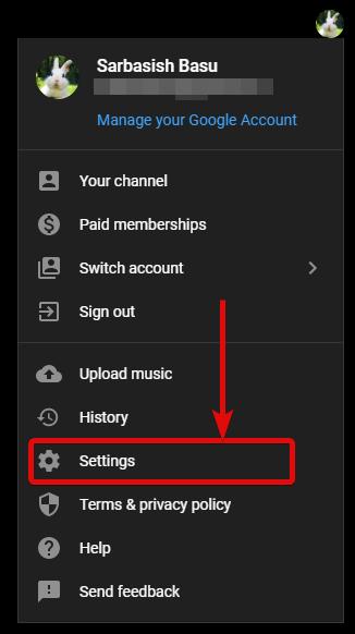 Open TY music Web version settings