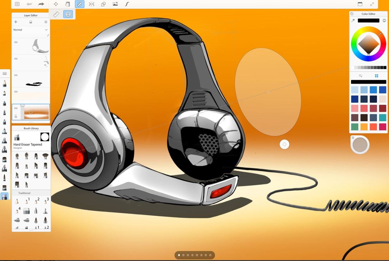 Autodesk SketchBook free drawing software min
