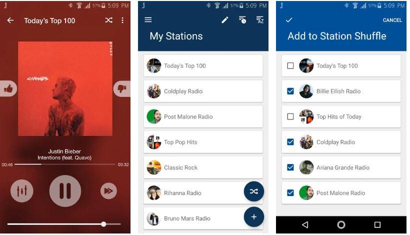 Jango Radio best radio apps for Android