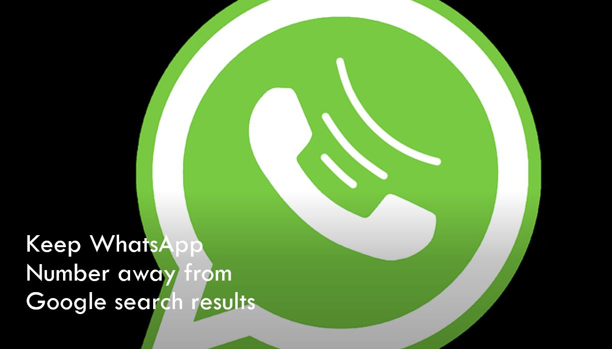 Is your WhatsApp number leaking on Google search?