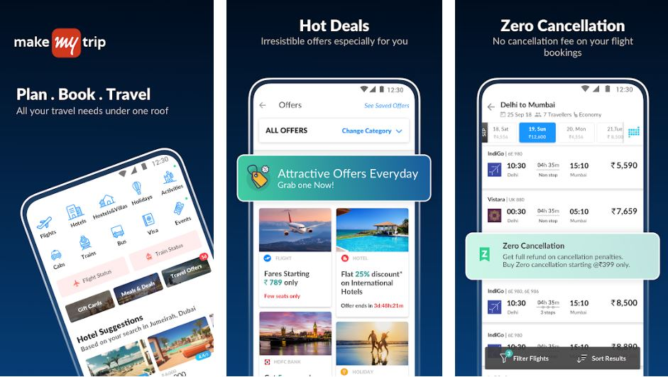 MakeMyTrip India made app min