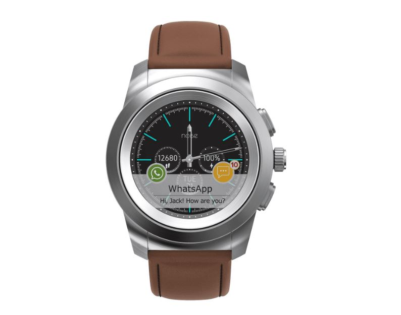 Noise NoiseFit Fusion Hybrid Smart Watch with Milanese Strap min