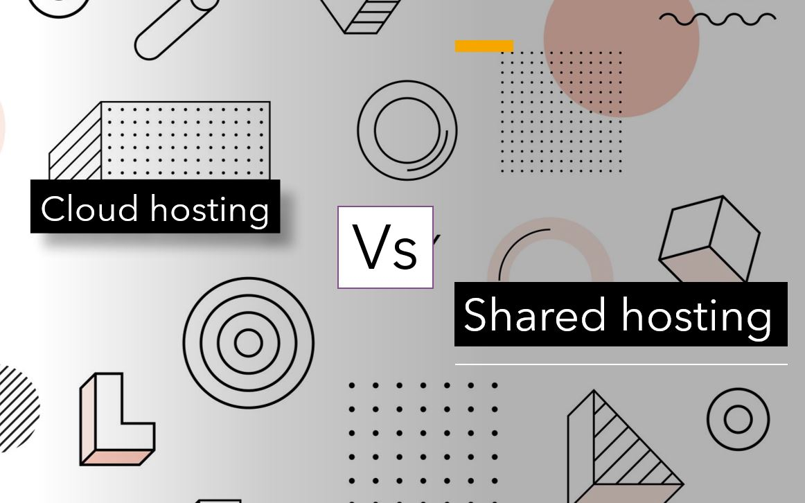 Shared hosting vs. Cloud hosting services min