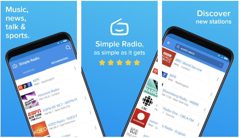 Simple Radio – Free Live AM FM Radio Music App
