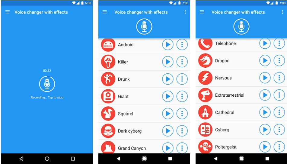 Voice changer with effects min