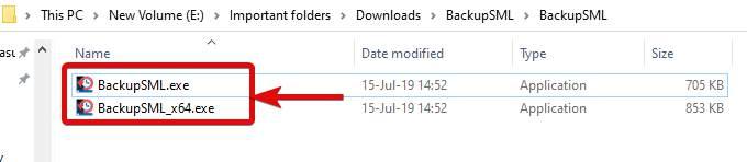 Create start menu backup