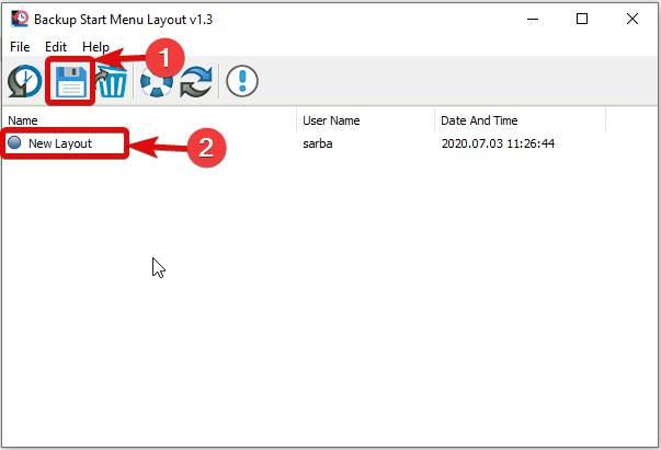 Create New Menu layout for Windows 10