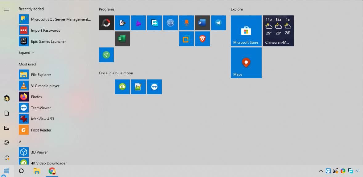 Windows 10 start menu layout backup 80