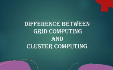 Difference between Grid computing and cluster computing with example