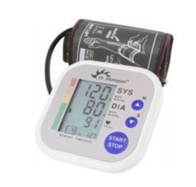 Dr. Morepen Bp02 Automatic Blood Pressure Monitor White min