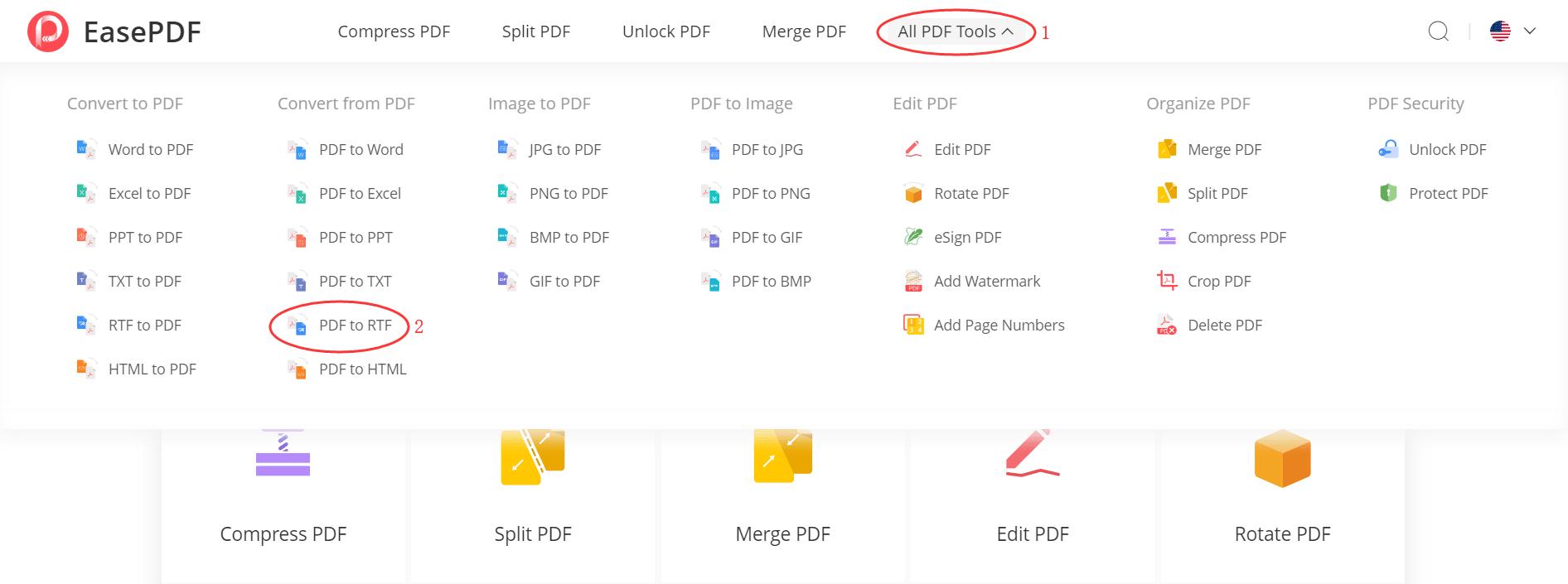 EasePDF PDF to RTF Converter