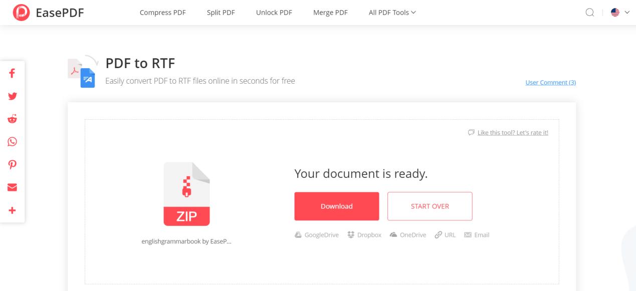 EasePDF PDF to RTF Download File
