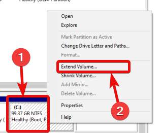 Extend Volume size