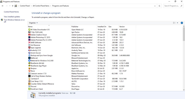 Export installed programs 10