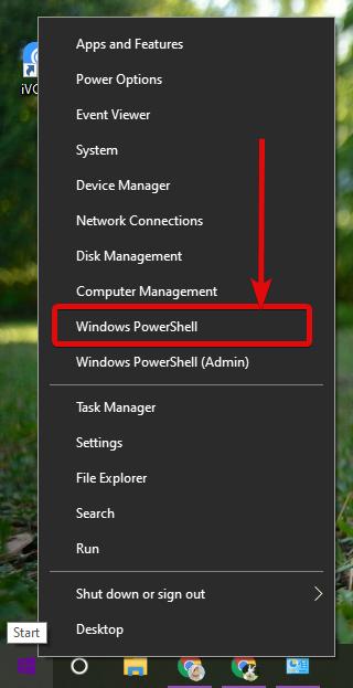 open Windows PowerShell