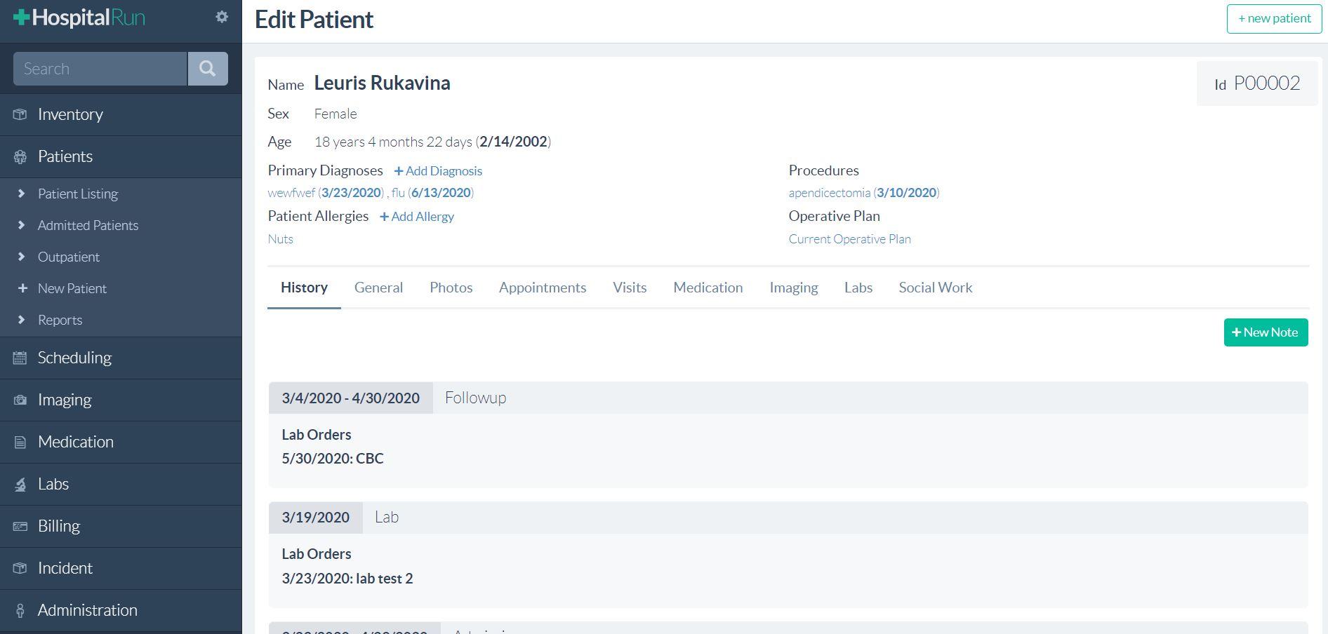 HospitalRun open source Clinic management software