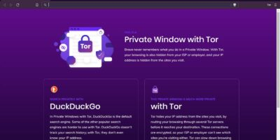 Open Tor network on Brave Browser 20