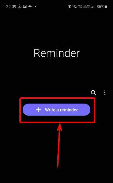 Write a reminder
