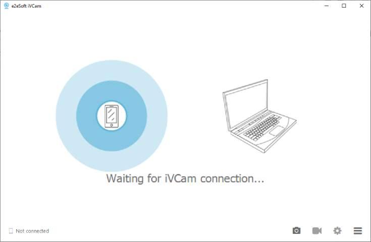Open iVCAM app